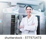 Portrait Of Woman Scientist In...