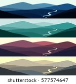 vector illustration of mountain ... | Shutterstock .eps vector #577574647