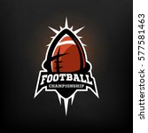 american football championship... | Shutterstock .eps vector #577581463