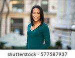 beautiful hispanic african... | Shutterstock . vector #577587937