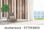 modern bright interior . 3d... | Shutterstock . vector #577593853