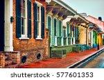 french quarter houses | Shutterstock . vector #577601353