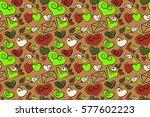 Trendy Multicolor Heart Patter...