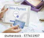 online banking internet finance ... | Shutterstock . vector #577611907