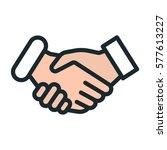 handshake friendship... | Shutterstock .eps vector #577613227