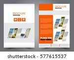 flyer design. business brochure ... | Shutterstock .eps vector #577615537