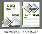 flyer design. business brochure ... | Shutterstock .eps vector #577615987