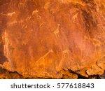 bushman engravings in the...   Shutterstock . vector #577618843