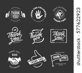 thank you followers labels set. ... | Shutterstock .eps vector #577622923