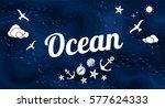 vector flat ocean design... | Shutterstock .eps vector #577624333