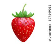 strawberry realistic icon... | Shutterstock .eps vector #577649053