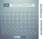 user interface line icons set... | Shutterstock .eps vector #577650733