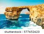 azure window  natural stone...   Shutterstock . vector #577652623