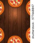 italian pizza poster. fast food.... | Shutterstock .eps vector #577668847