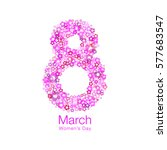 march 8   womens day light... | Shutterstock .eps vector #577683547