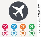 plane icon. flight transport... | Shutterstock .eps vector #577691173
