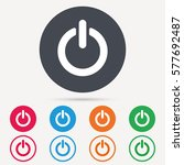 on  off power icon. energy... | Shutterstock .eps vector #577692487