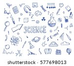 hand drawn set of cartoon... | Shutterstock .eps vector #577698013