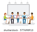 group of working people ... | Shutterstock .eps vector #577698913