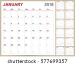 english calendar template for... | Shutterstock .eps vector #577699357