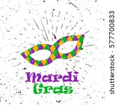 mardi gras concept with... | Shutterstock .eps vector #577700833