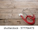 workplace of a doctor.... | Shutterstock . vector #577706473
