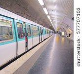 paris  france  february 12 ...   Shutterstock . vector #577707103