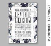 anemone wedding invitation card ...   Shutterstock .eps vector #577708177