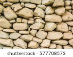 Background Of White Stone Wall...