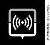 wi fi    black vector icon | Shutterstock .eps vector #577709593