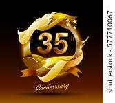 35 years anniversary...   Shutterstock .eps vector #577710067