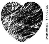 grunge heart black | Shutterstock .eps vector #577712137