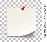 white paper note with the red... | Shutterstock .eps vector #577726417