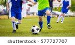 soccer training match for... | Shutterstock . vector #577727707