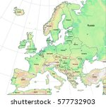 elevation map of europe.... | Shutterstock .eps vector #577732903