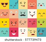 emoticons vector pattern. emoji ... | Shutterstock .eps vector #577739473
