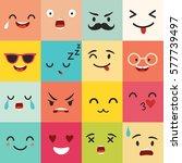 emoticons vector pattern. emoji ... | Shutterstock .eps vector #577739497