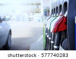 gas station. fuel dispenser and ... | Shutterstock . vector #577740283