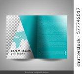 bi fold business brochure... | Shutterstock .eps vector #577742017