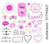 vector hand drawn fashion... | Shutterstock .eps vector #577742617
