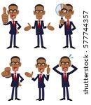 6 african businessmen posing... | Shutterstock .eps vector #577744357