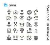 icons creative idea degree... | Shutterstock .eps vector #577745923