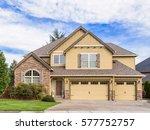 beautiful  newly built luxury...   Shutterstock . vector #577752757