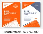 run championship poster design... | Shutterstock .eps vector #577763587