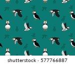 atlantic puffin wallpaper | Shutterstock .eps vector #577766887