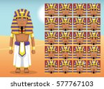 pharaoh cartoon emotion faces...