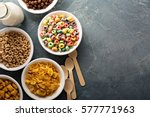 variety of cold cereals in...   Shutterstock . vector #577771963