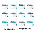stylized different types of... | Shutterstock .eps vector #577779253