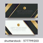 gift voucher template with... | Shutterstock .eps vector #577799203