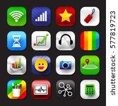 set of mobile app and social... | Shutterstock .eps vector #577819723
